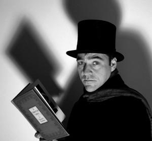 Michael Halberstam as Scrooge at Writers'