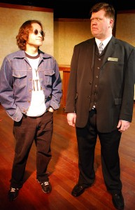 Edward Fraim as John and Christopher Marcum as Tomkins/Photo: Paul Metreyeon