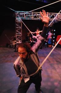 Adrian Danzig keeps Molly Brennan swinging. Photo/Stan Barouh