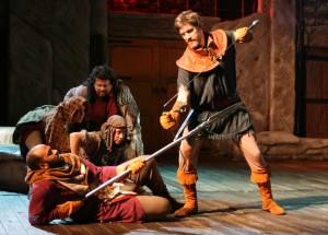 E.B. Smith (Macduff) and Nathan Hosner (Macbeth)/Photo: D. Rice