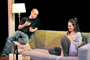 """Stephen Louis Grush and Amy J. Carle in """"Sex with Strangers""""/Photo: Mark Campbell"""