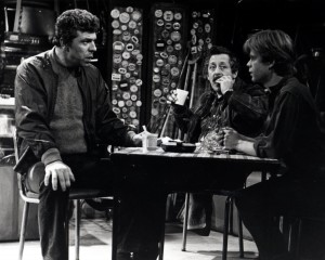 American Buffalo then and now:  J.J. Johnson, Mike Nussbaum and William H. Macy in the Goodman's 1975/76 production