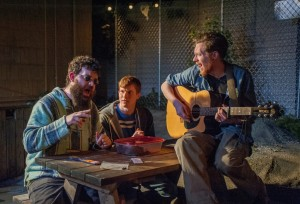 Brad Akin as KJ, Michael Finley as Evan, Steve Haggard as Jasper - horiz 2
