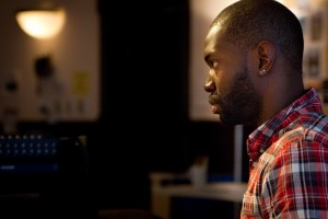 "McCraney during ""Head of Passes"" rehearsal/Photo:Joel Moorman"