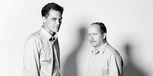 "Michael Shannon and Guy Van Swearingen in a promotional photo for ""Simpatico"""