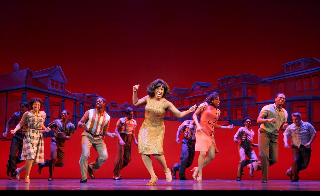 Patrice Covington as Martha Reeves (center)/Photo: Joan Marcus