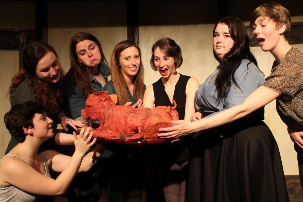 (l to r) Kaitlin Larson, Ellen Mcmahon, Eliana Stone, Jenelle Cheyne, Grace Palmer, Amy Rose Ramelli, Karly Bergmann/Photo: Cassie Ahiers