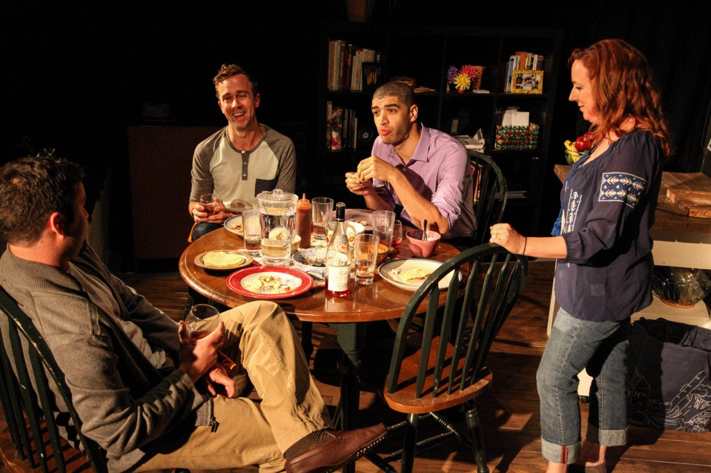 (left to right)  Brian Crawford,      Will Von Vogt,      Blake Russell and Lauren Pizzi/Photo: Emily Schwartz