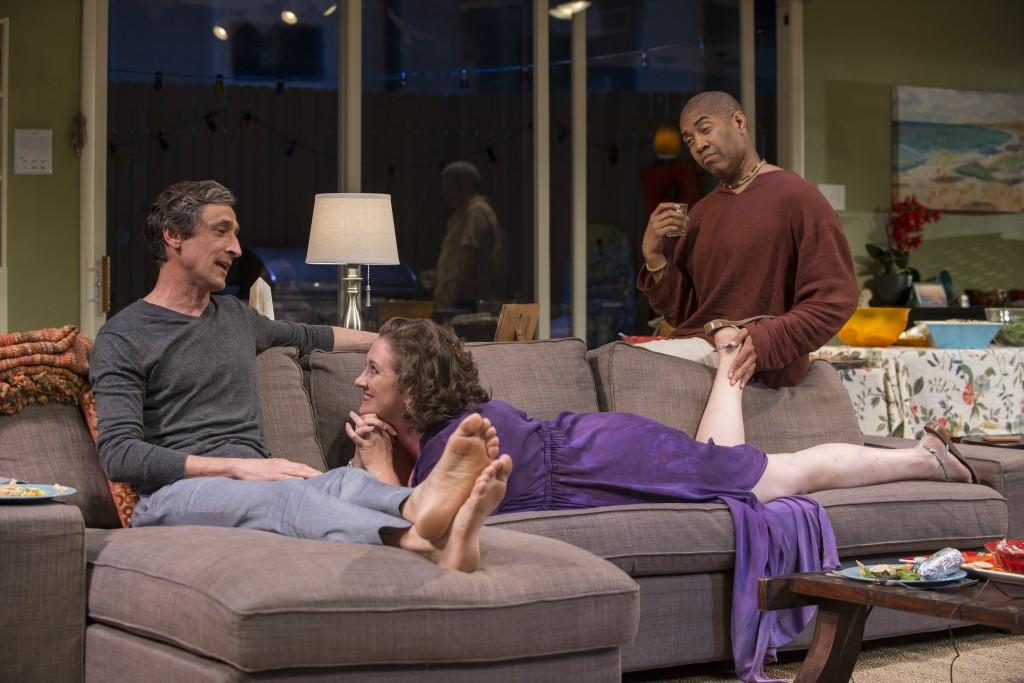 (l to r) David Pasquesi, Kirsten Fitzgerald and Paul Oakley Stovall/Photo: Michael Brosilow