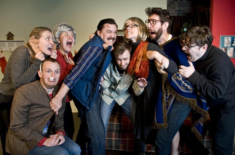 (l to r) Bridget Ballek, Ryan Ben, Rosie Moan, Lee Russell, Mantas Dumcius, Jo Scott, Kellen Terret, Jeffrey Murdoch/Review: Shannon Jenkins