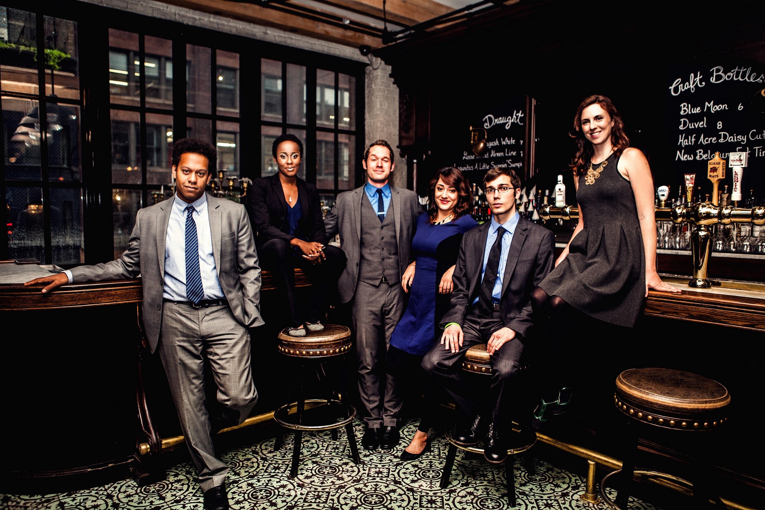 (l to r) John Thibodeaux, Lisa Beasley, Scott Morehead, Marlena Rodriguez, Alan Linic, Liz Reuss/Photo:Kirsten Miccoli