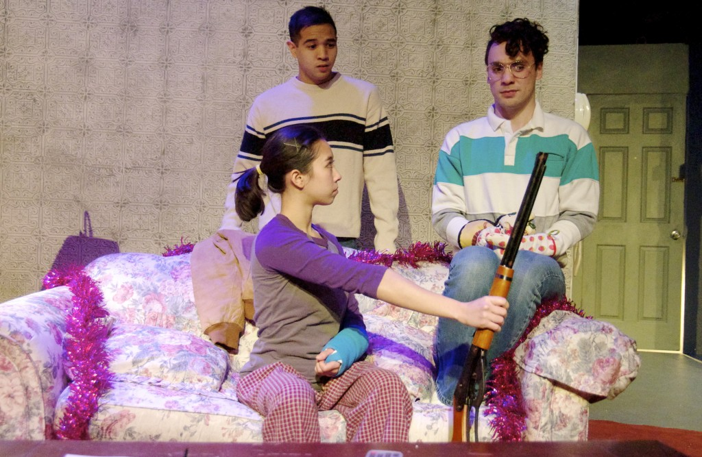 (left to right) Kevin Matthew Reyes,      Aurora Adachi-Winter and Luke Michael Grimes/Photo: Julia Dratel