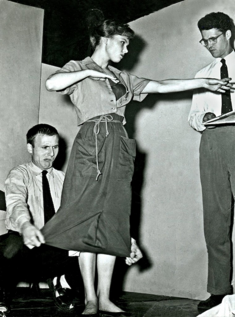 David Shepherd, Barbara Harris and Andrew Duncan, Circa 1955