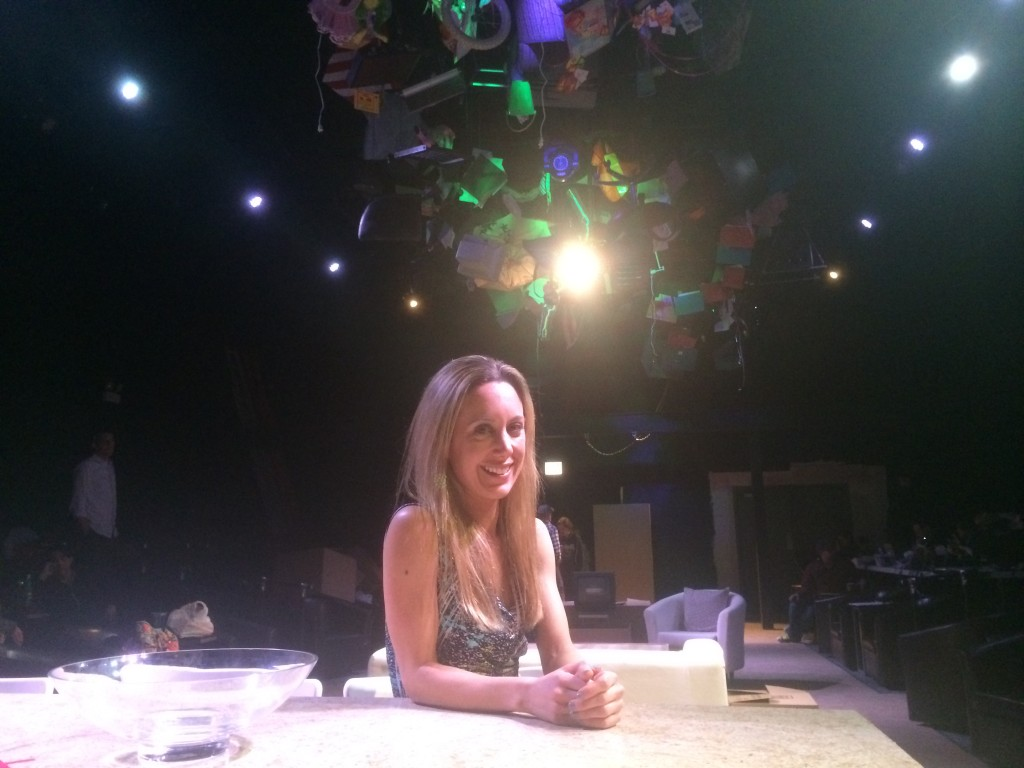 "Amy Rubenstein, Artistic Director of Windy City Playhouse, on the set of ""End of Days""/Photo: Alex Huntsberger"