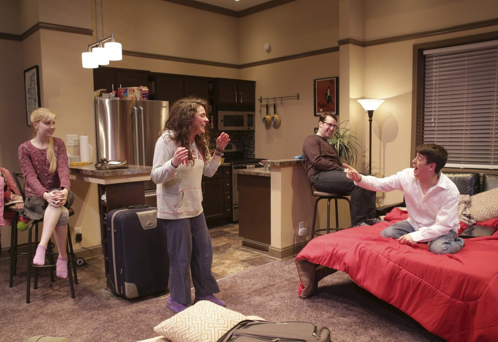 (from left) Erica Bittner plays Melody, Laura Lapidus is Daphna, Ian Paul Custer plays Liam and Cory Kahane/Photo: Charles Osgood