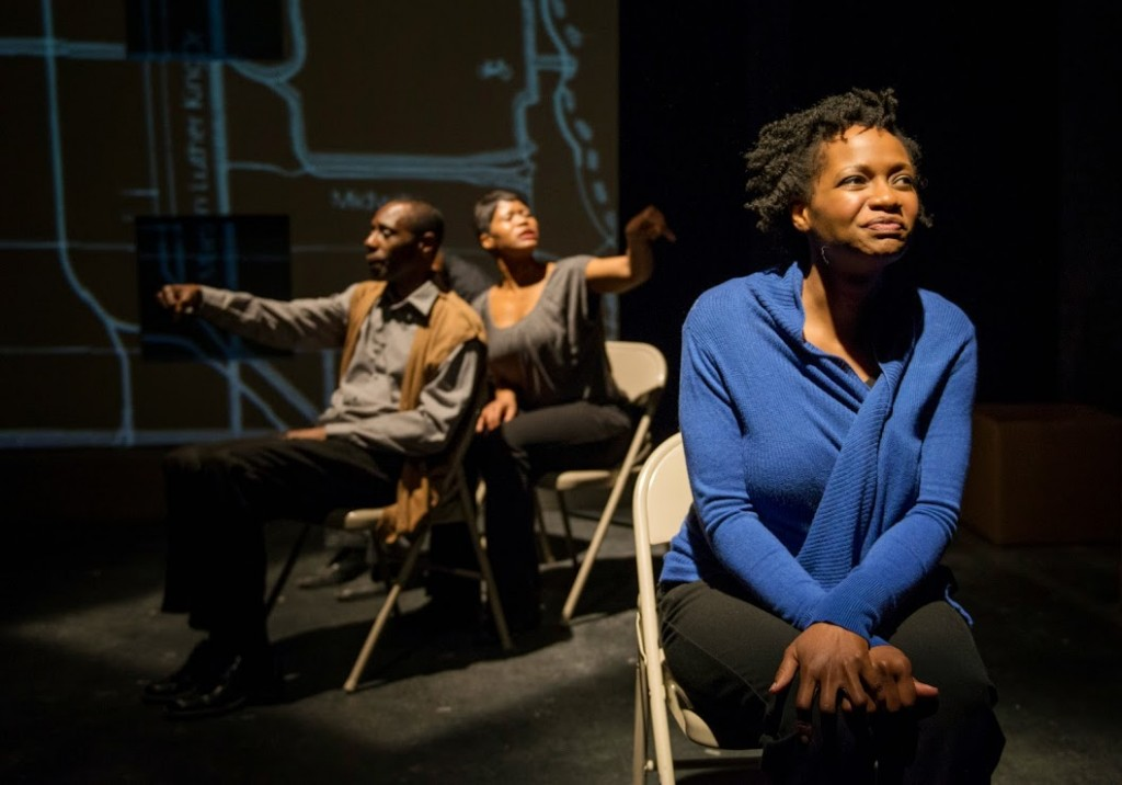 (l to r) Kenn E. Head, Anji White and Eunice Woods/Photo: Michael Brosilow.