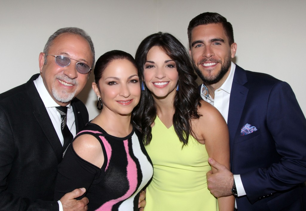 (l to r) Emilio Estefan, Gloria Estefan, Ana Villafañe and Josh Segarra/Photo: Bruce Glikas