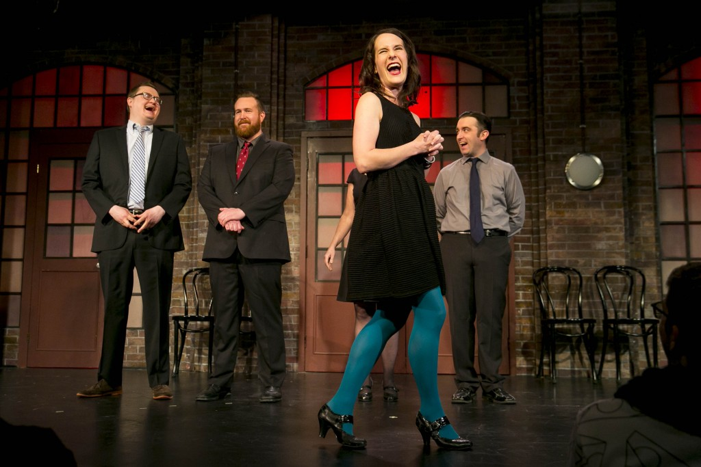 (left to right) Adam Peacock,      Ryan Archibald,      Brooke Breit, Kevin Sciretta Second City Improv All-Stars . © Todd Rosenberg Photography 2015