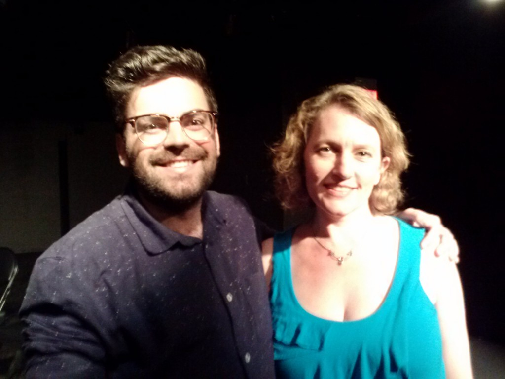 Playwright Aline Lathrop with director Hutch Pimentel