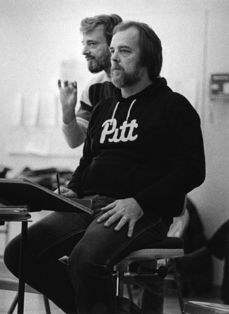 Stephen Sondheim and Paul Gemignani/Photo: Courtesy of Paul Gemignani
